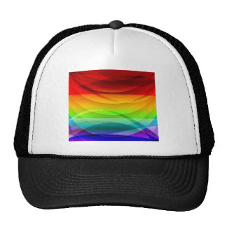 Vector-Abstract-Colorful-Background-Graphic RAINBO Trucker Hats