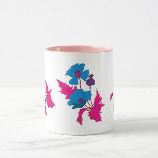 Vector Abstract colourful poppy flower. Mug