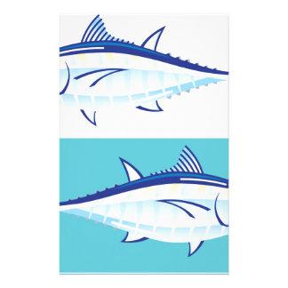 Vector amarillo del atún de la aleta stylized papeleria personalizada
