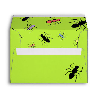 Vector Ant Collage (Grass Green Background) Envelope