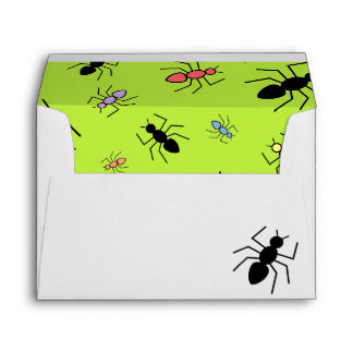 Vector Ant Collage (Grass Green Background) Envelopes