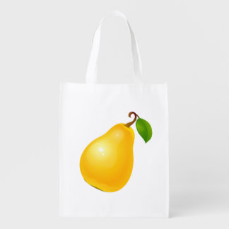 Vector Apple and Pear Reusable Grocery Bags