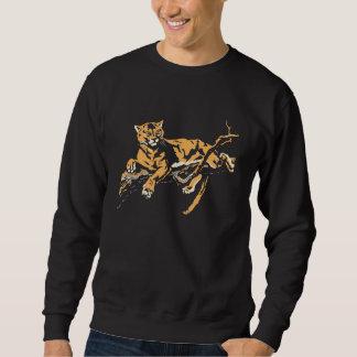 Vector art: big wild large cat in tree sweatshirt