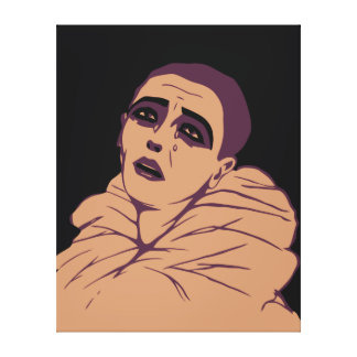 Vector art deco Tears of a clown Gallery Wrapped Canvas