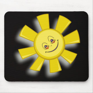 vector art happy sun mouse pad