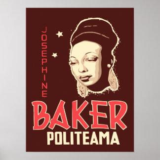 Vector Art Josephine Baker at the Politeama Poster