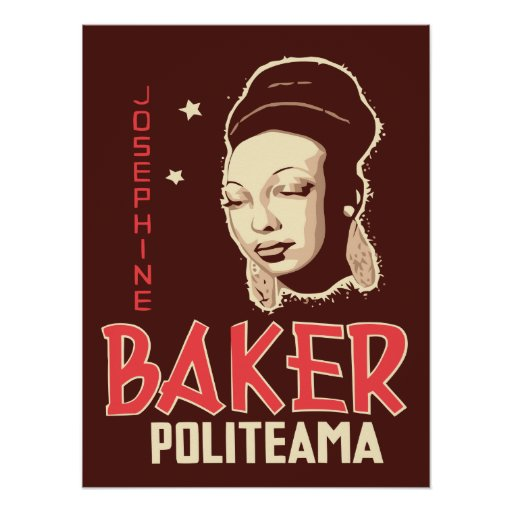 Vector Art Josephine Baker at the Politeama Posters | Zazzle