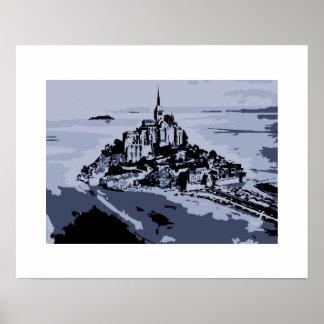 Vector art: Mont Saint-Michel Print