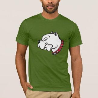 Vector Art Pit Bull Dog Head - T-shirt