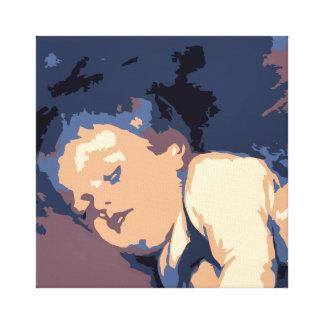 Vector art pop art: toddler fallen asleep canvas print