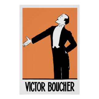 Vector Art, retro, French Actor Victor Boucher Poster