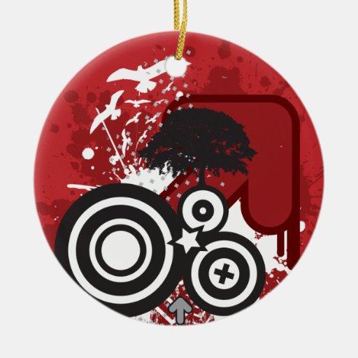 Vector Art Tree Birds Christmas Ornament