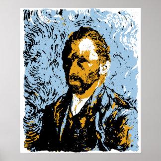Vector Art Vincent Van Gogh Portrait Poster