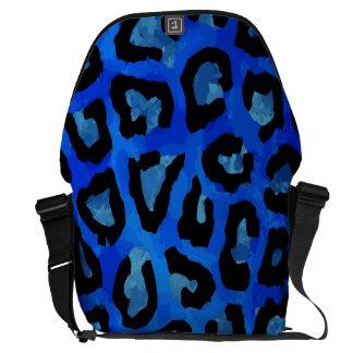 Vector azul de neón del guepardo bolsa de mensajería