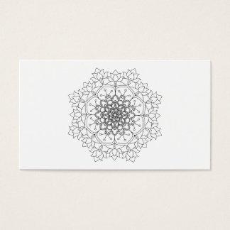Vector Beautiful Mandala, Patterned Design Elemen Business Card