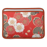 Vector blanco rojo floral retro del vintage lindo funda para macbook air