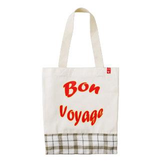 Vector Bon Voyage Zazzle HEART Tote Bag