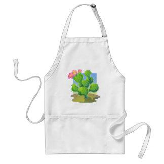 Vector bonito del cactus delantal