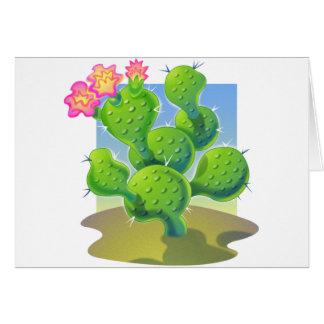 Vector bonito del cactus tarjetón