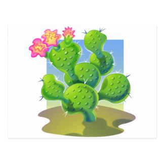Vector bonito del cactus postales