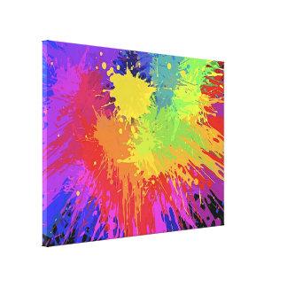Vector brillante colorido del diseño de Splat de l Impresión En Lona
