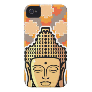 Vector Buddha head golden with background iPhone 4 Case