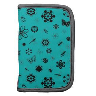 Vector Bugs & Flowers (Teal Background) Organizer