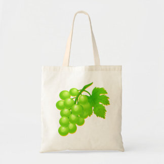 Vector Bunch of Grapes Tote Bag