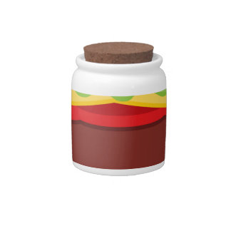 Vector Burger Time Background Candy Dish