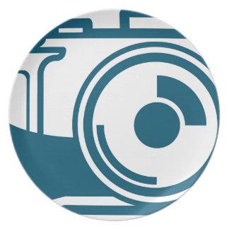 Vector Camera Icon Plate