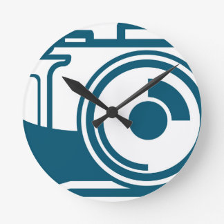 Vector Camera Icon Round Clock