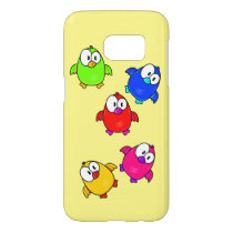 Vector  Cartoon Birds Samsung Galaxy S7 Case