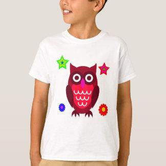 Vector  Cartoon Owl T-Shirt