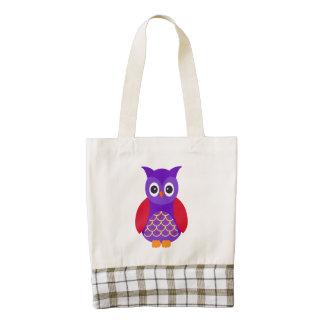 Vector  Cartoon Owl Zazzle HEART Tote Bag