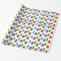 Vector Cartoon Owls Wrapping Paper