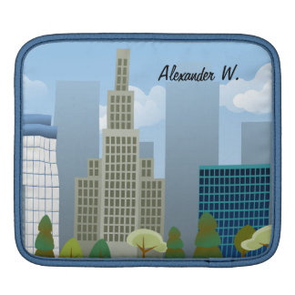 Vector City Scene Personalized iPad or Tablet Case Sleeves For iPads