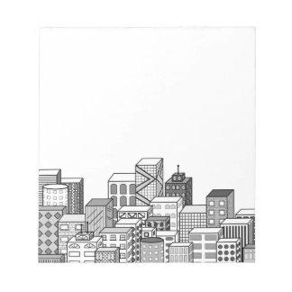 Vector Cityscape (Black & White) Notepad