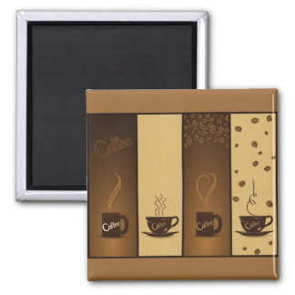 vector coffee banners 2 inch square magnet