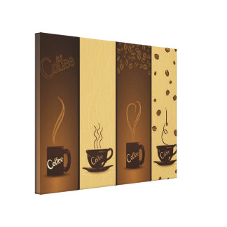 vector coffee banners canvas print
