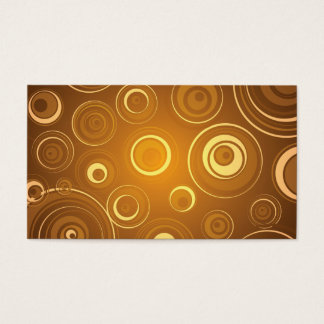 Vector  Concentric Circles orange Business Card
