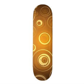Vector  Concentric Circles orange Skateboard Deck