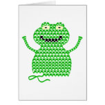 Vector Crochet Frog (Rip it, Frog it!) Greeting Card