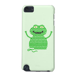 Vector Crochet Frog (Rip it, Frog it! -Green Back) iPod Touch 5G Case