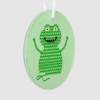 Vector Crochet Frog (Rip it, Frog it! -Green Back) Ornament