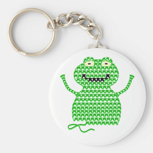 Vector Crochet Frog (Rip it, Frog it!) Keychains