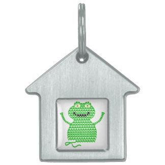 Vector Crochet Frog (Rip it, Frog it!) Pet Tags