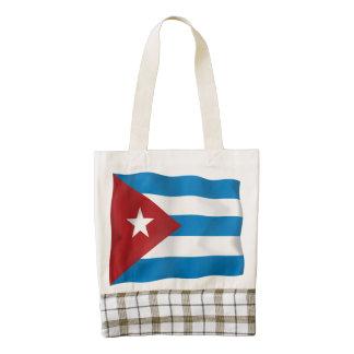 Vector  Cuba flag Zazzle HEART Tote Bag