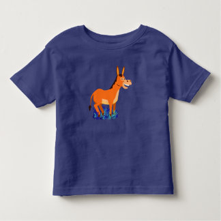 Vector Cute Donkey Toddler T-shirt