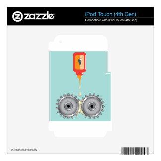 Vector de engrase de los engranajes iPod touch 4G calcomanías