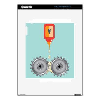 Vector de engrase de los engranajes skin para el iPad 2